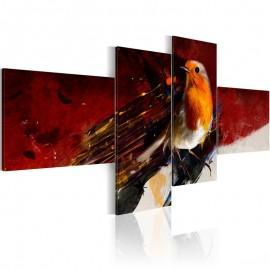 Quadro - A little bird on four parts