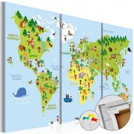 Quadro de cortiça - Children's World [Cork Map]