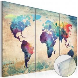 Quadro acrílico - Rainbow Map [Glass]