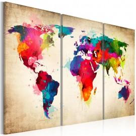 Cuadro - Continentes del arco iris