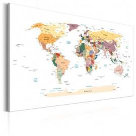 Cuadro - World Map: Travel Around the World