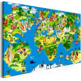 Quadro - Children's Map (1 Part) Wide