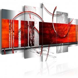 Cuadro - Énfasis: tema rojo