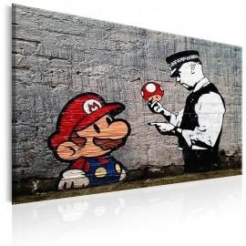 Quadro - Mario and Cop by Banksy