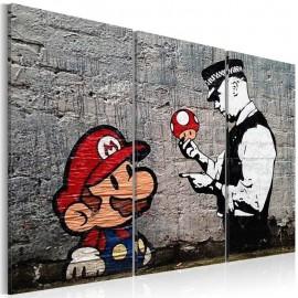 Quadro - Super Mario Mushroom Cop by Banksy
