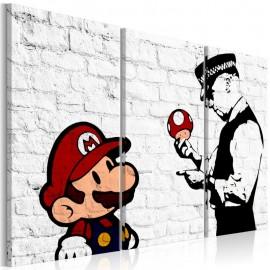 Cuadro - Mario Bros (Banksy)