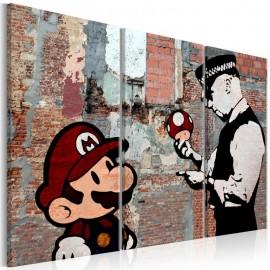 Quadro - Banksy: Warning