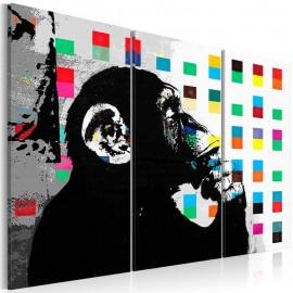 Quadro - The Thinker Monkey by Banksy