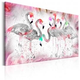 Quadro - Flamingoes Family