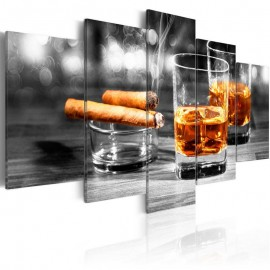 Cuadro - Cigars and whiskey