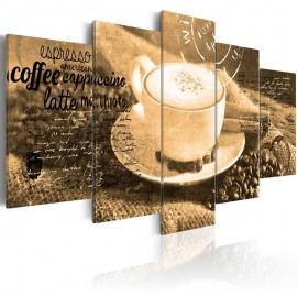 Quadro - Coffe, Espresso, Cappuccino, Latte machiato ... - sepia