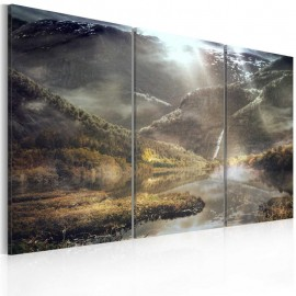 Cuadro - The land of mists - triptych