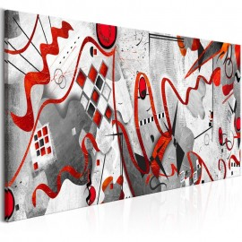 Quadro - Red Ribbons (1 Part) Wide