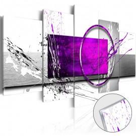 Cuadro acrílico - Purple Expression [Glass]
