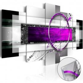 Quadro acrílico - Violet Rim [Glass]