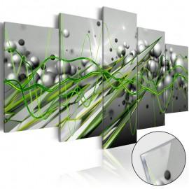 Cuadro acrílico - Green Rhythm [Glass]