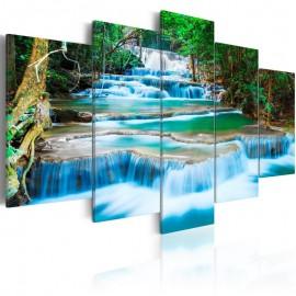 Cuadro - Cascada azul en Kanchanaburi, Tailandia