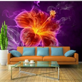 Fotomural - Fiery flower in purple