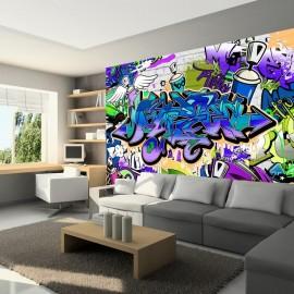 Fotomural - Graffiti: violet theme