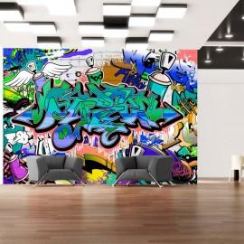 Fotomural - Grafiti: tema azul