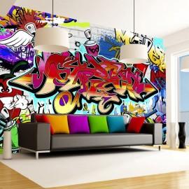 Fotomural - Street art:red theme