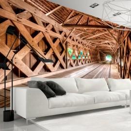 Fotomural - Puente de madera