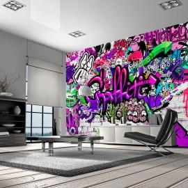 Fotomural - Purple Graffiti