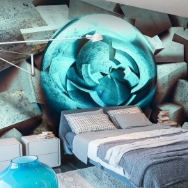 Fotomural - Resplandor azul