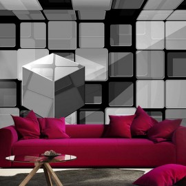 Fotomural - Rubik's cube in gray