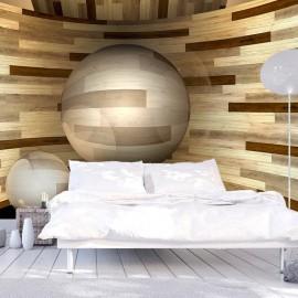 Fotomural - Órbita de madera