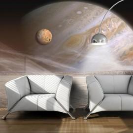 Fotomural - Um planeta pequeno e um grande