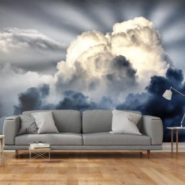 Fotomural - Rayas de luz en el cielo