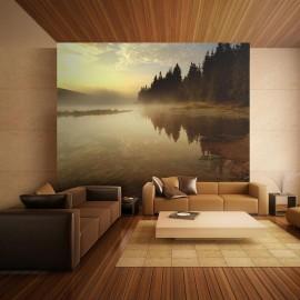 Fotomural - Floresta e lago
