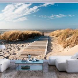 Fotomural - La playa del Mar del Norte, Langeoog