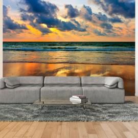 Fotomural - Por do sol colorido sobre o mar