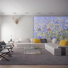 Fotomural - Un prado color de cielo, azulejos