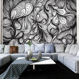 Fotomural - Preto e branco estilo retro