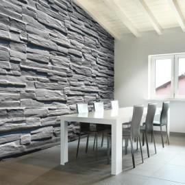 Fotomural - Cinza parede de pedra
