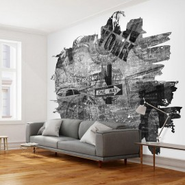Fotomural - Black-and-white New York collage