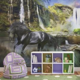 Fotomural - Cavalo no fundo do céu azul-cachoeira