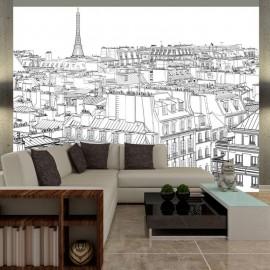 Fotomural - Bloc de dibujos de un parisino