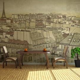 Fotomural - Good bye Paris!