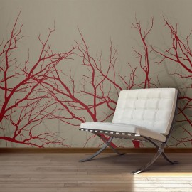 Fotomural - Red-hot branches