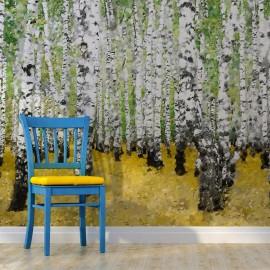 Fotomural - No bosque do vidoeiro ...