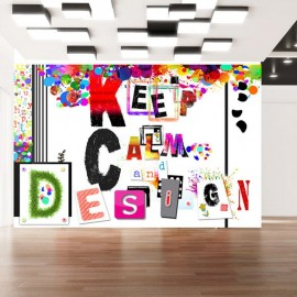 Fotomural - Keep Calm and Design