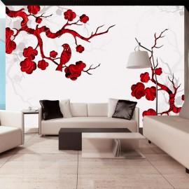 Fotomural - Arbusto rojo