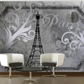 Fotomural - Vintage Paris - silver