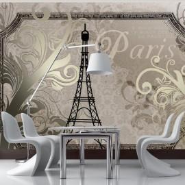 Fotomural - Vintage Paris - gold