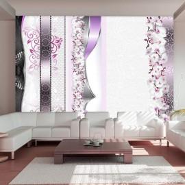 Fotomural - Desfile de orquídeas en violeta