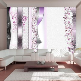 Fotomural - Parade of orchids in violet